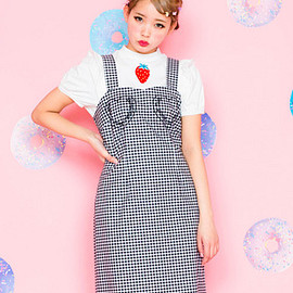 Candy Stripper - BABY TALK GINGHAM JUMPER SKIRT