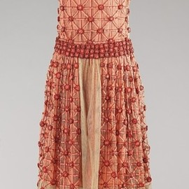 """Roseraie"" dress by House of Lanvin, 1923 France, the Met Museum"