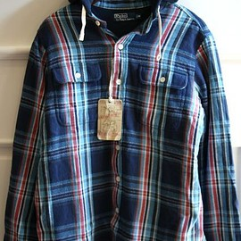 RALPH LAUREN - Hooded flannel
