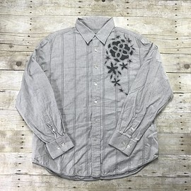 Tommy Bahama - Tommy Bahama Denim Gray Button Up Cotton Shirt Mens Size XL