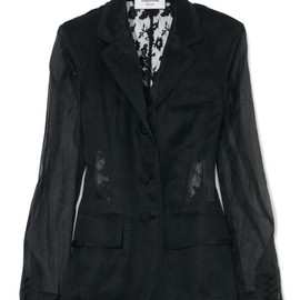 THOM BROWNE - Lace-Back Fitted Blazer