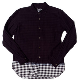 COMME des GARCONS - BLACK GINGHAM CHECK SHIRT BLACK