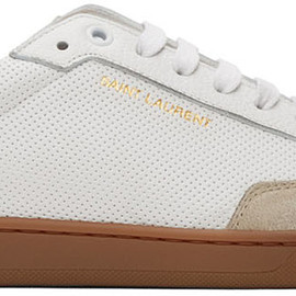 Saint Laurent - White Perforated SL 10 Sneakers