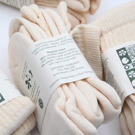 Organic Threads - 3P Regular Crew Socks