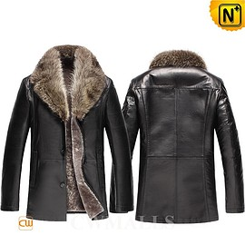 cwmalls - Wyoming Mens 2-in-1 Fur Leather Coat CW858039