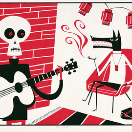 "Shag - ""Mr.Lucky"" 2-color serigraph Edition of 350"