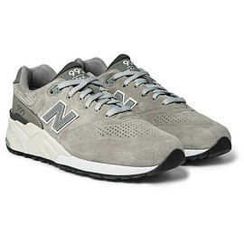 New Balance - 999 Nubuck-Trimmed Suede Sneakers