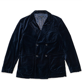 ENGINEERED GARMENTS - Dexter Jacket-Velveteen-Dk.Navy