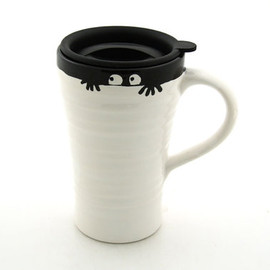 LennyMud  - Funny Monster Ceramic Travel Mug