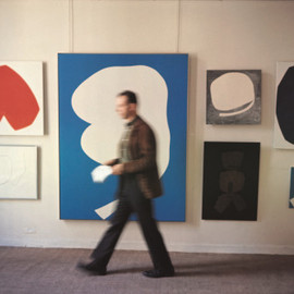 Dan Budnik - Ellsworth Kelly, Betty Parsons Gallery, New York - November 1963