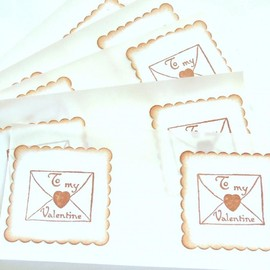 Luulla - Vintage Inspired To My Valentine Envelope Seals/Stickers - Set of 10