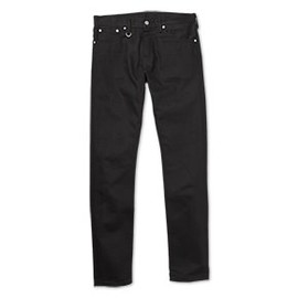 uniform experiment - UNDISCOLORATION SLIM-FIT JEANS (RIGID) BLACK