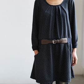 MaLieb - Lovely tunic Have Belt decoration in dark blue