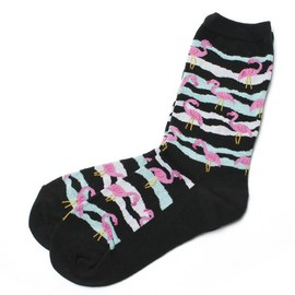 Wide Mouth Flamingo Socks