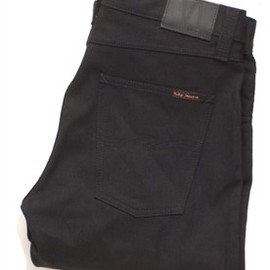 nudie jeans - Slim Jim Black Black Twill Nudie Jeans