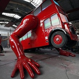 David Cerny - A London Bus Capable Of Doing 'Push-Ups' For The Olympics