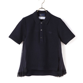 FRED PERRY x MUVEIL - MUVEIL CHIFFON FLARE PIQUE SHIRT