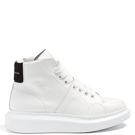 Alexander McQueen - Raised-sole high-top leather trainers
