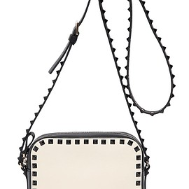 VALENTINO - FW2015 ROCKSTUD TWO TONE LEATHER SHOULDER BAG