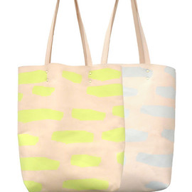 coldpicnic - Talking Rocks Printed Leather Tote