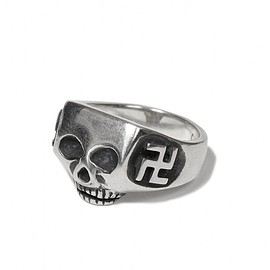 "FLASH POINT, WACKO MARIA - JIM SKULL RING ""FYLFOT"" (TYPE-1)"