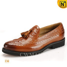 CWMALLS - CWMALLS® Embossed Leather Tassel Loafers CW716212