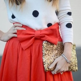 white & red & gold