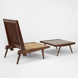 George Nakashima - Cushion Chair with Ottoman