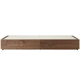 MUJI - Walnut Storage Bed - Single