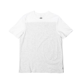 Reigning Champ - TWO TONE SS TEE - WHITE/HEATHER ASH