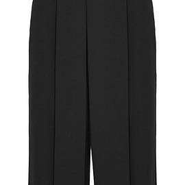 Alexander Wang - Pleated cropped wool-twill wide-leg pants