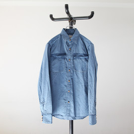 kolor - Indigo W Cloth Safari Shirts