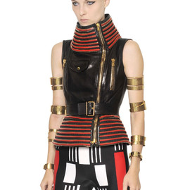Alexander McQueen - SS2014 ZIPPED SMOOTH LEATHER VEST