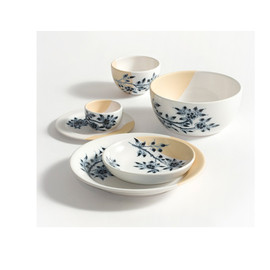 Royal Tichelaar - Non-Temporary Bouls and Plates with Blue Decoration