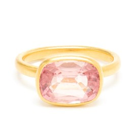 MARIE HÉLÈNE DE TAILLAC - 22k Gold and Pink Tourmaline Princess Ring