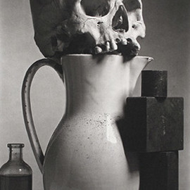 Irving Penn - Skull, Cross, Base, Bottle.