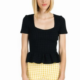 OPENING CEREMONY - WESSON JERSEY GINGHAM SHIRT