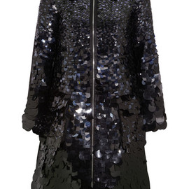 ERDEM - Kayleigh paillette-embellished silk-satin coat
