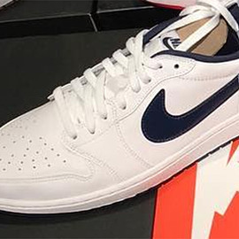 Jordan Brand - Air Jordan 1 Low Retro OG - White/Navy