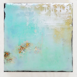 Laura LaRue - Polu Kai, encaustic mixed media on board