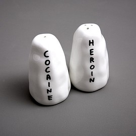 David Shrigley - Cocaine and Heroin Salt and Pepper Shakers