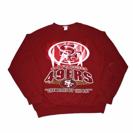 VINTAGE - Vintage 90s San Francisco 49ers Crewneck Sweatshirt Made in USA Mens Size Large