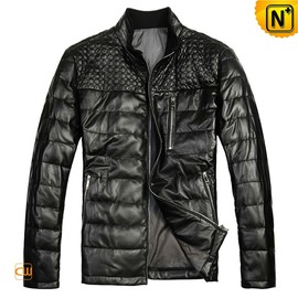 CWMALLS - Down Filled Leather Jackets for Men CW804382