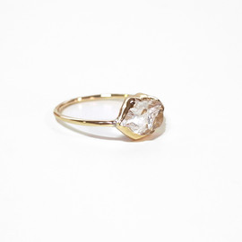 in her - K10 Herkimer diamond Wrapping ring