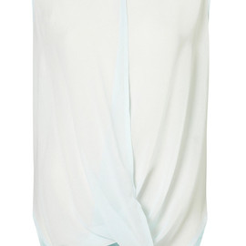 TOPSHOP - SLEEVELESS DRAPE FRONT TOP