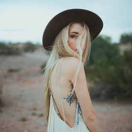 Free People - Diamonds in the Sky Dress, Matador Hat