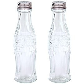 Coca-Cola - Glass Salt and Pepper Shakers