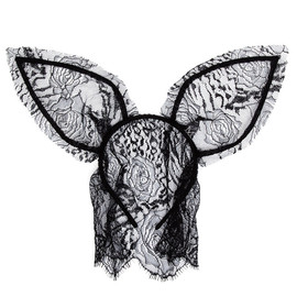 MAISON MICHEL - Lace Rabbit-ear Headband