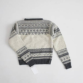 vintage - vintage j. crew wool sweater | wool ski sweater | grey and white fair isle sweater