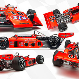 Replicarz Exclusive Indy Models - 1973 STP Eagle, Indy 500, Swede Savage